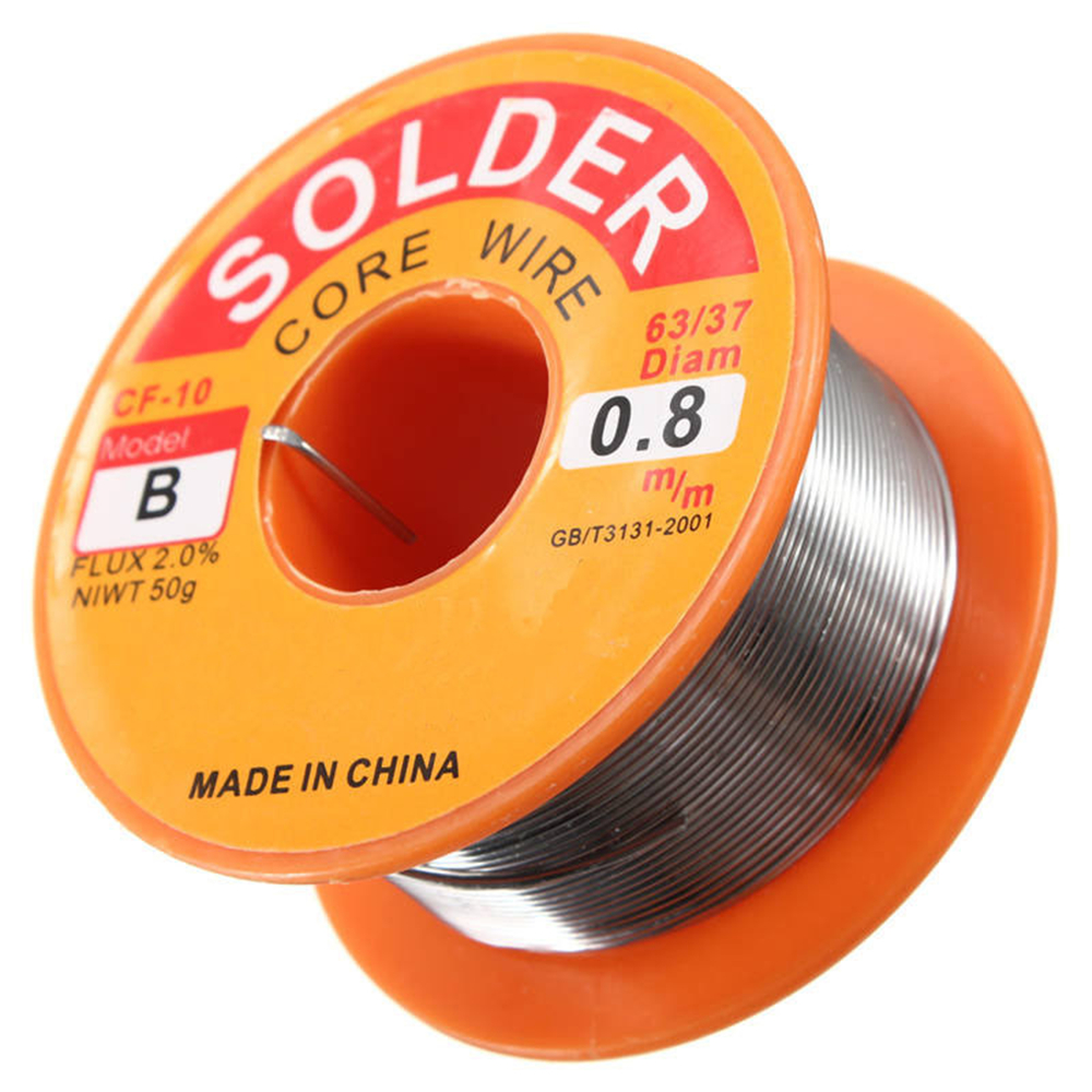 0.5/0.6/0.8/1.0mm 63/37 FLUX 2.0% 45FT Tin Lead Tin Wire Melt Rosin Core Solder Soldering Wire Roll