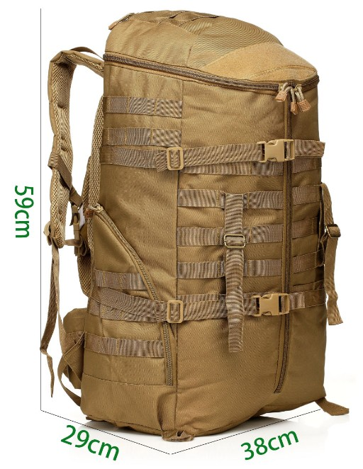 FAITH PRO 55L Military Tactical Assault Backpack Camping Riding Large Multifunction Sport Rucksack