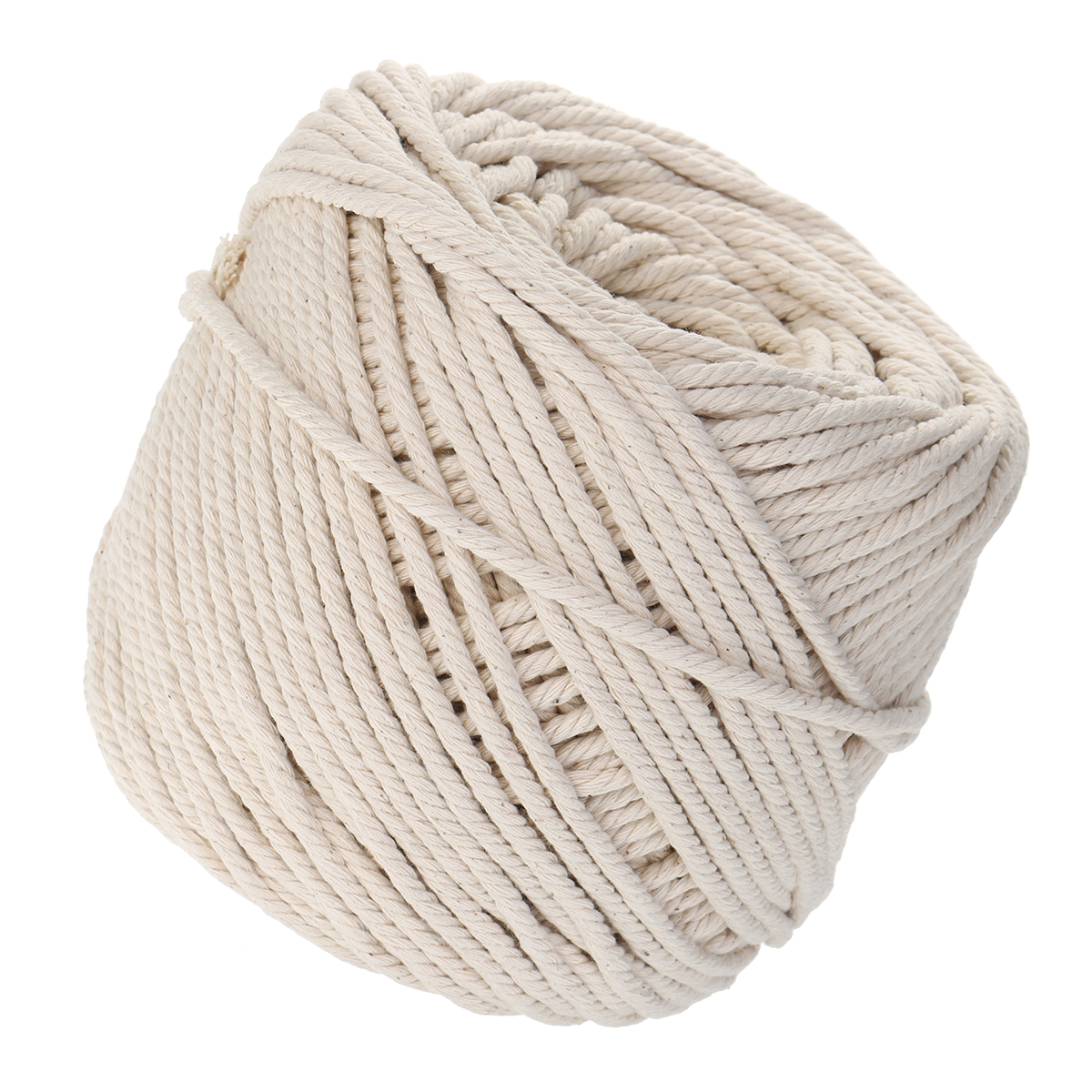 10 Roll 125M 4 Strands Natural Braided Twisted Cotton Cord Rope Craft Macrame Multifunctional Tools