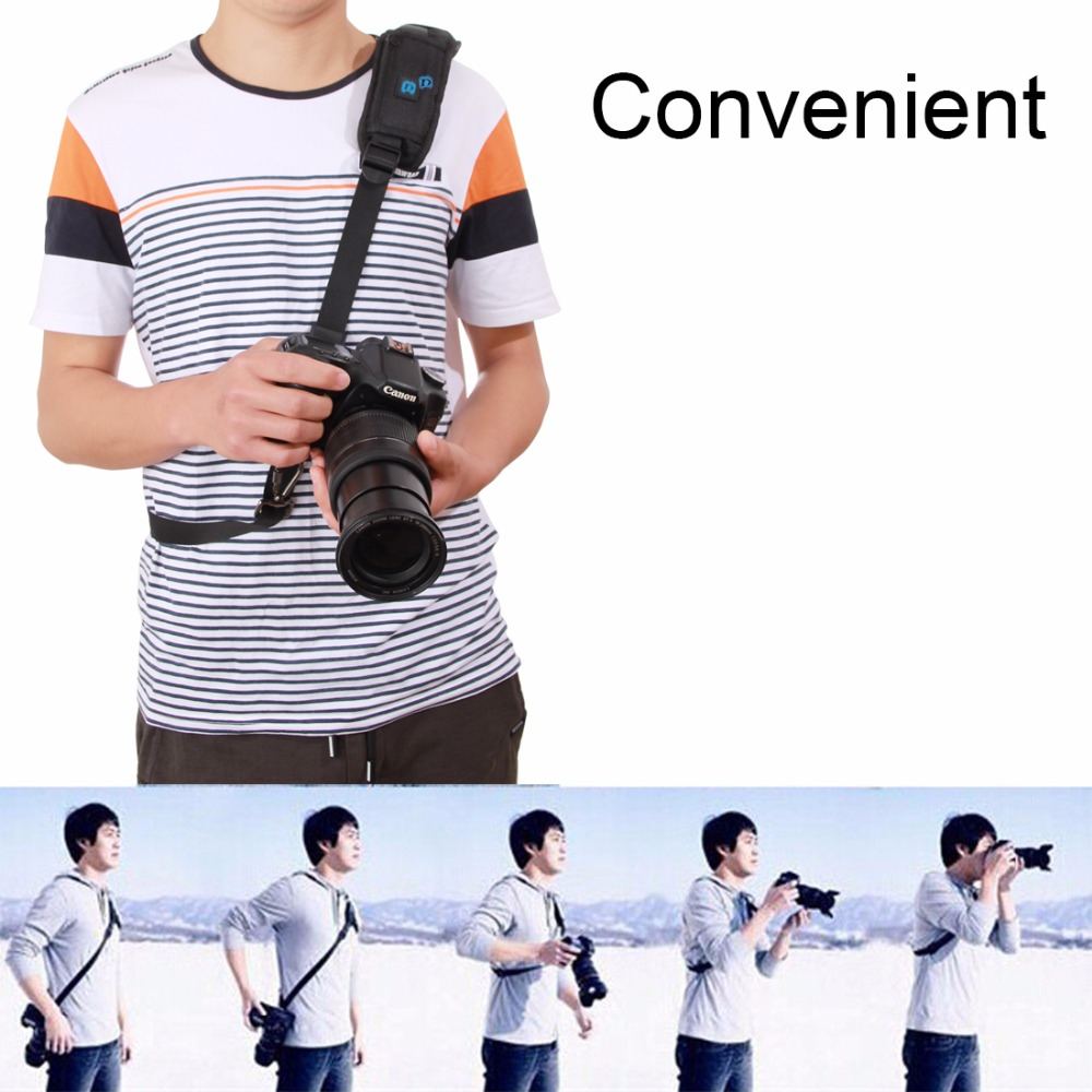 PULUZ PU6001 Quick Release Anti-Slip Soft Nylon Single Shoulder Camera Neck Strap with Metal Hook