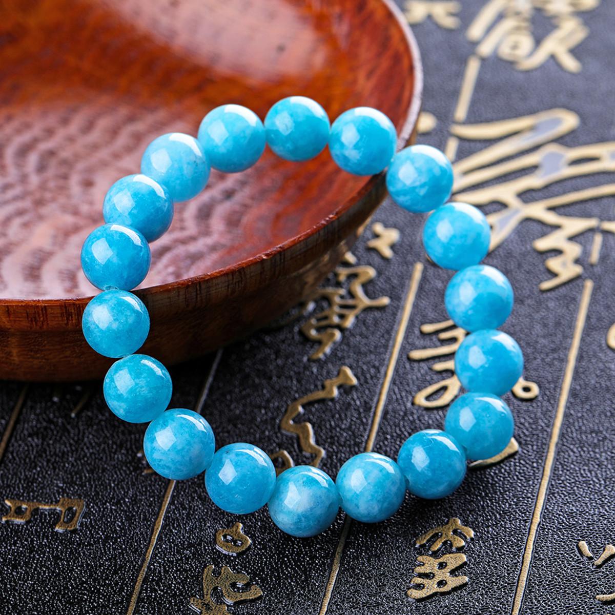 Vintage Natural Blue Bead Bracelets