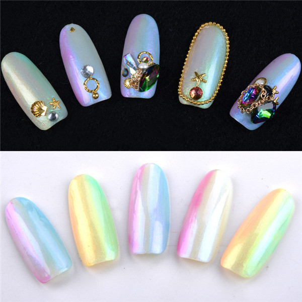 Pearl Shell UV Gel Polish Sea Shells Luster Soak Off Symphony Shiny Color Builder Mermaid Glue