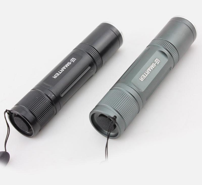XANES UV06 2xT6 LEDs Purple+White Light Zoomable UV Flashlight Scorpion Anti-fake Detection Pen