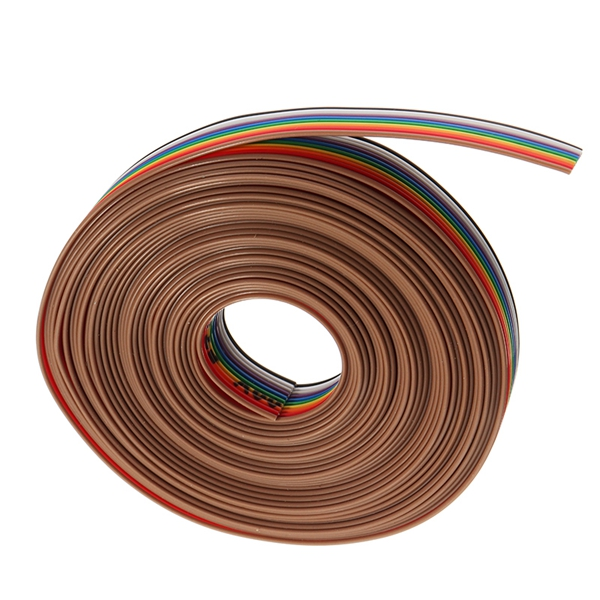5 Meters/Lot 10 Way 10 Pin Flat Color Rainbow Ribbon Rainbow Cable Wire 1.27mm Pitch Suitable For 2.54mm Pitch Horns