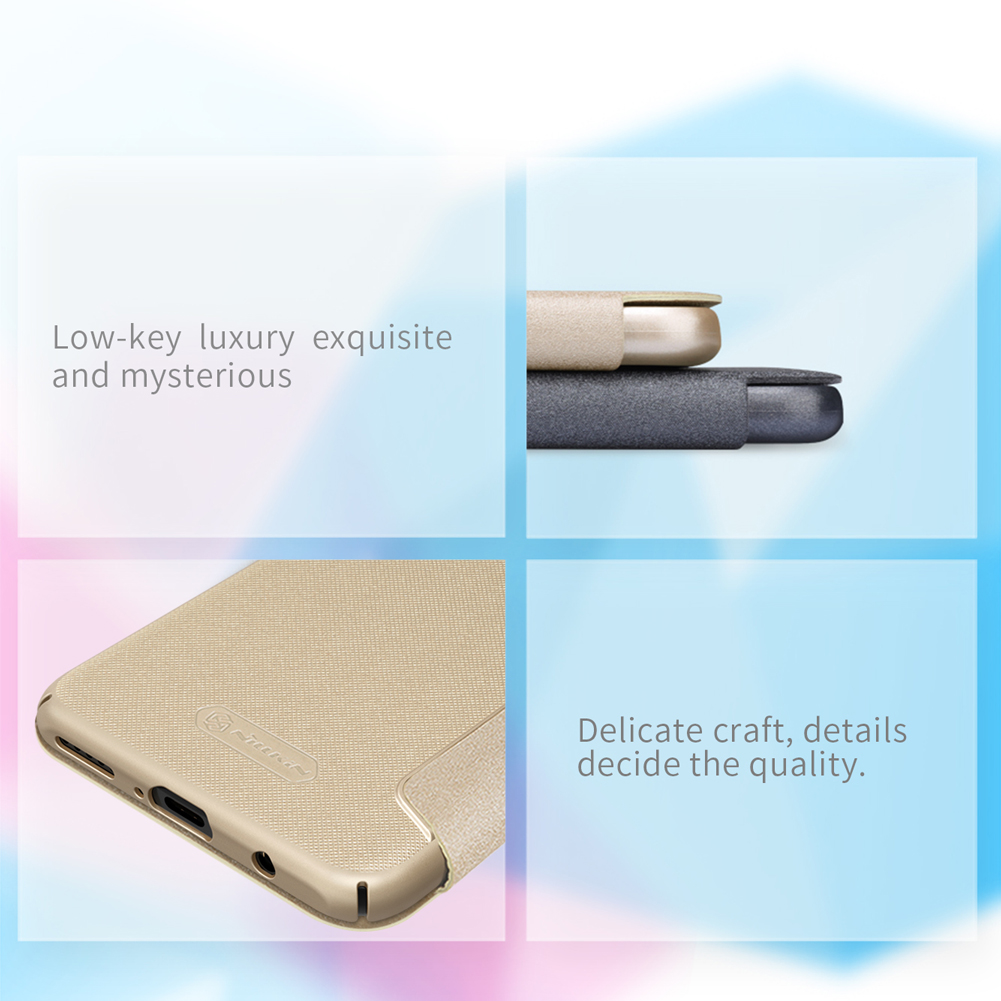 NILLKIN Sparkle Flip Smart Sleep PU Leather Protective Case With Magnetic For Huawei P30 Lite/ Huawei Nova 4e