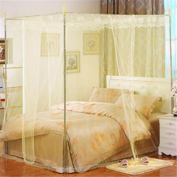 180x220cm Palace Mosquito Net Four Corner Bed Netting Canopy Insect