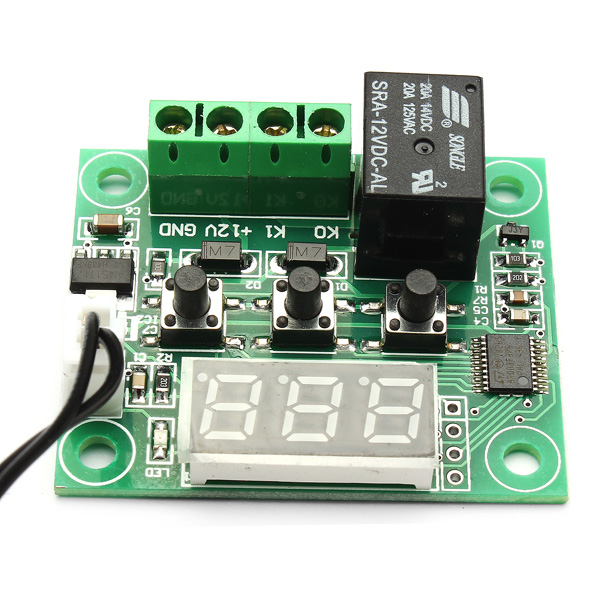 Geekcreit® W1209 DC 12V -50 to +110 Temperature Control Switch Thermostat Thermometer With Case