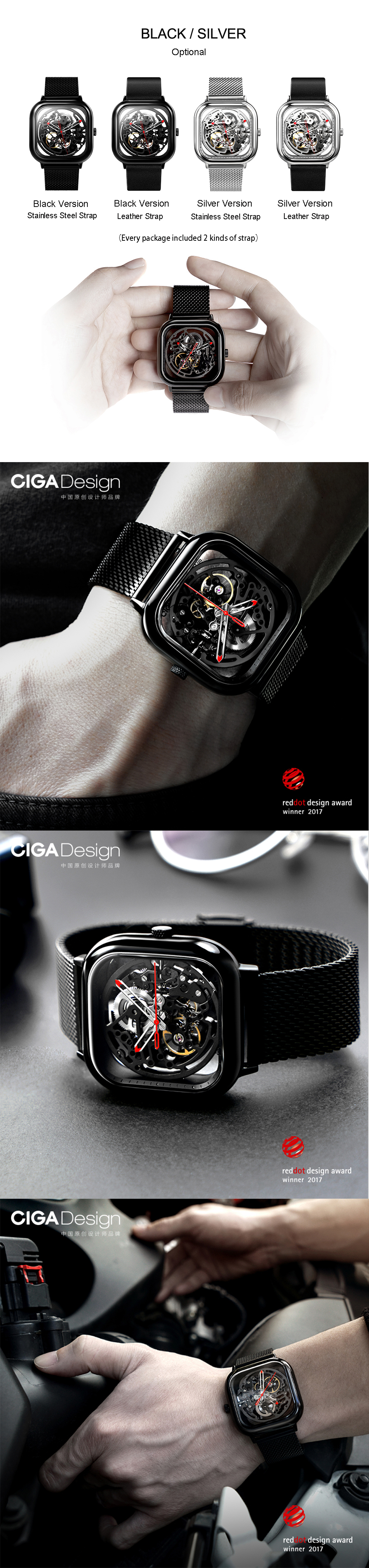 Original CIGA Design Men Automatic Mechanical Watch