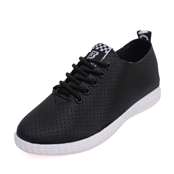 Flat Women Lace Up Soft Breathable Fashion Low Top Loafers Shoes