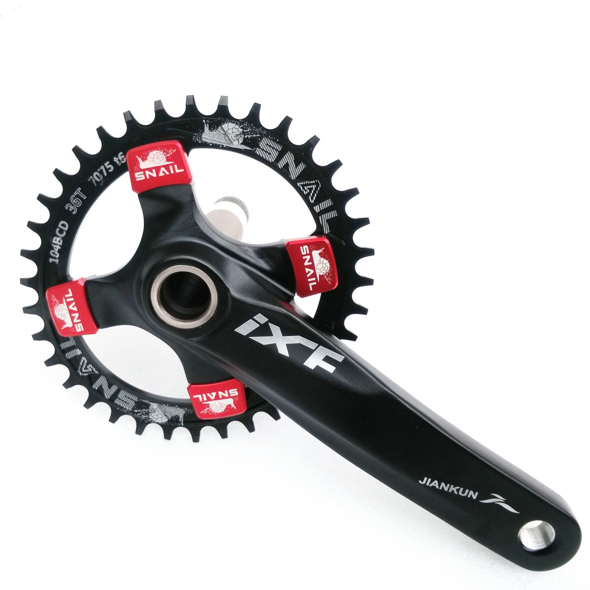 SNAIL 34T Round Chainring Bicycle Crankset 104MM Chainwheel Bike Single-tooth Positive and Negative Plate