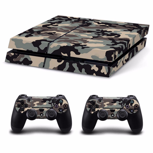 Camouflage Pattern Skin Sticker for PS4 Play Station 4 Console 2 Controller Protector Skin