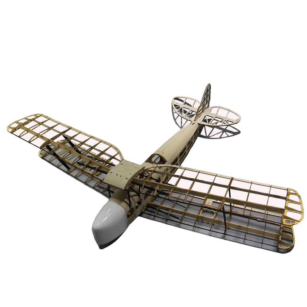 Tiger Moth Biplane 1000mm Wingspan Balsa Wood Trainer RC Airplane Kit