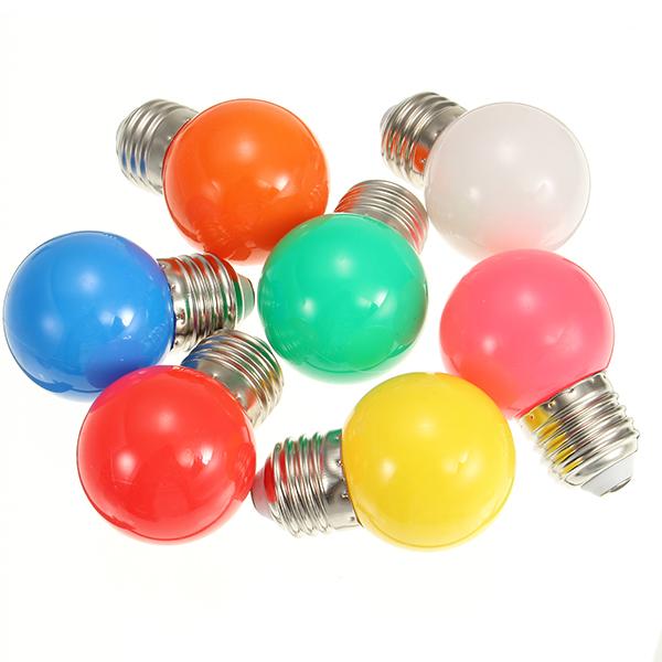 E27 1W Frosted Orange Rose White Red Green Blue Yellow LED Globe Light Bulb AC220V