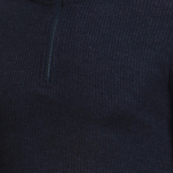 Half Zipper High Collar POLO Sweater Knitted Warm Pullover