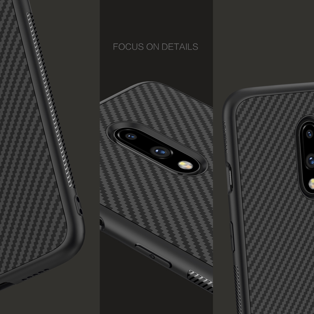 NILLKIN Synthetic Fiber Plaid Shockproof Protective Case for OnePlus 7