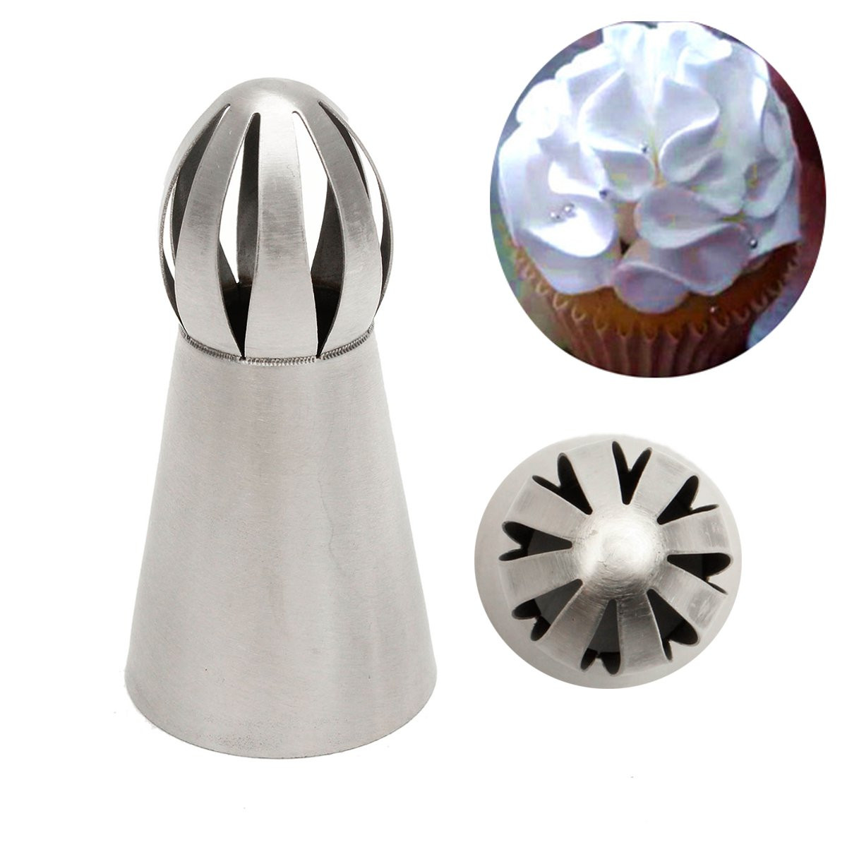 Sphere Ball Shape Flower Icing Piping Nozzles Pastry Tips Cake Decor DIY Sugarcraft Baking Tool