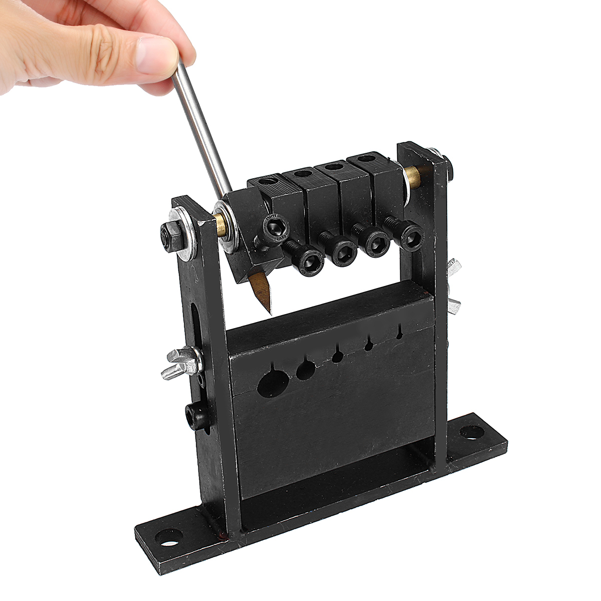 5 Size Holes Black Manual Cable Wire Strippers Machine for 1-30mm Diameter Wires