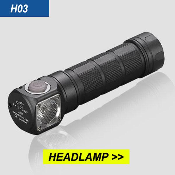 SKILHUNT H03 L2 1200LM TIR lens EDC LED Flashlight Headlamp