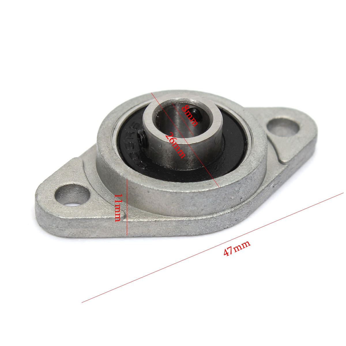 KFL08 Zinc Alloy Pillow Block Flange Bearing 8mm Inner Diameter Flange Bearing