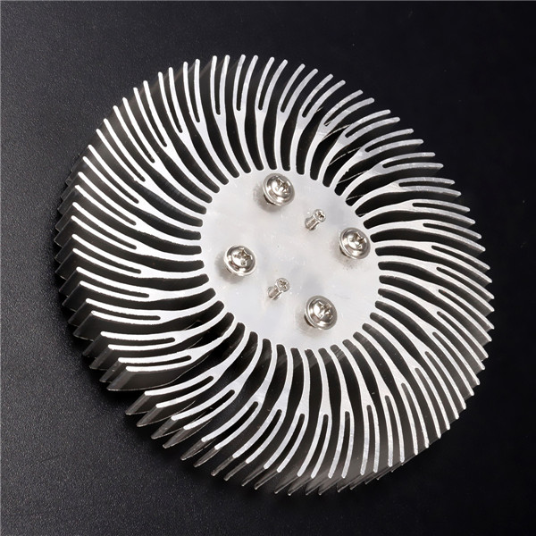 90x10mm Round Spiral Aluminum Heat Sink Radiator for 10W High Power LED Lamp