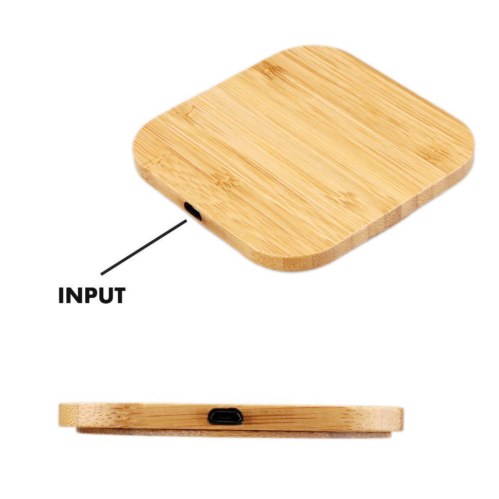 Qi Wireless Charger Charging Slim Wood Pad Mat for Samsung S8 iPhone 8 Plus X