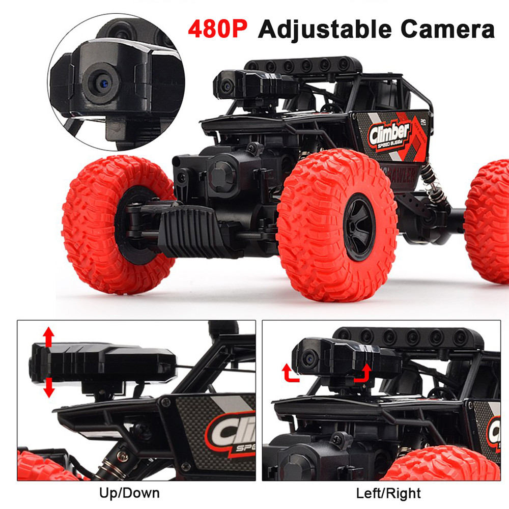 Crazon 171803B 1/18 2.4G 4WD 15km/h Rc Car 480P HD WiFi App Control Off-road Truck RTR Toy