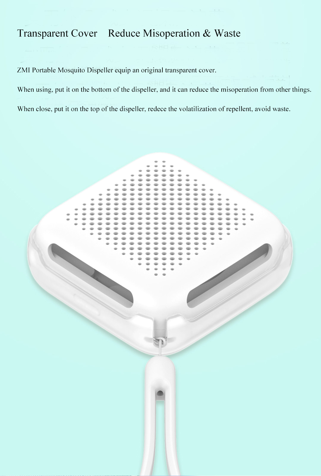 XIAOMI ZMI Portable Mosquito Repeller Dispeller Bugs Epochal Mini Garden Outdoor Dust-proof Mosqutio Dispeller for Garden Camping Hunting Personal Using