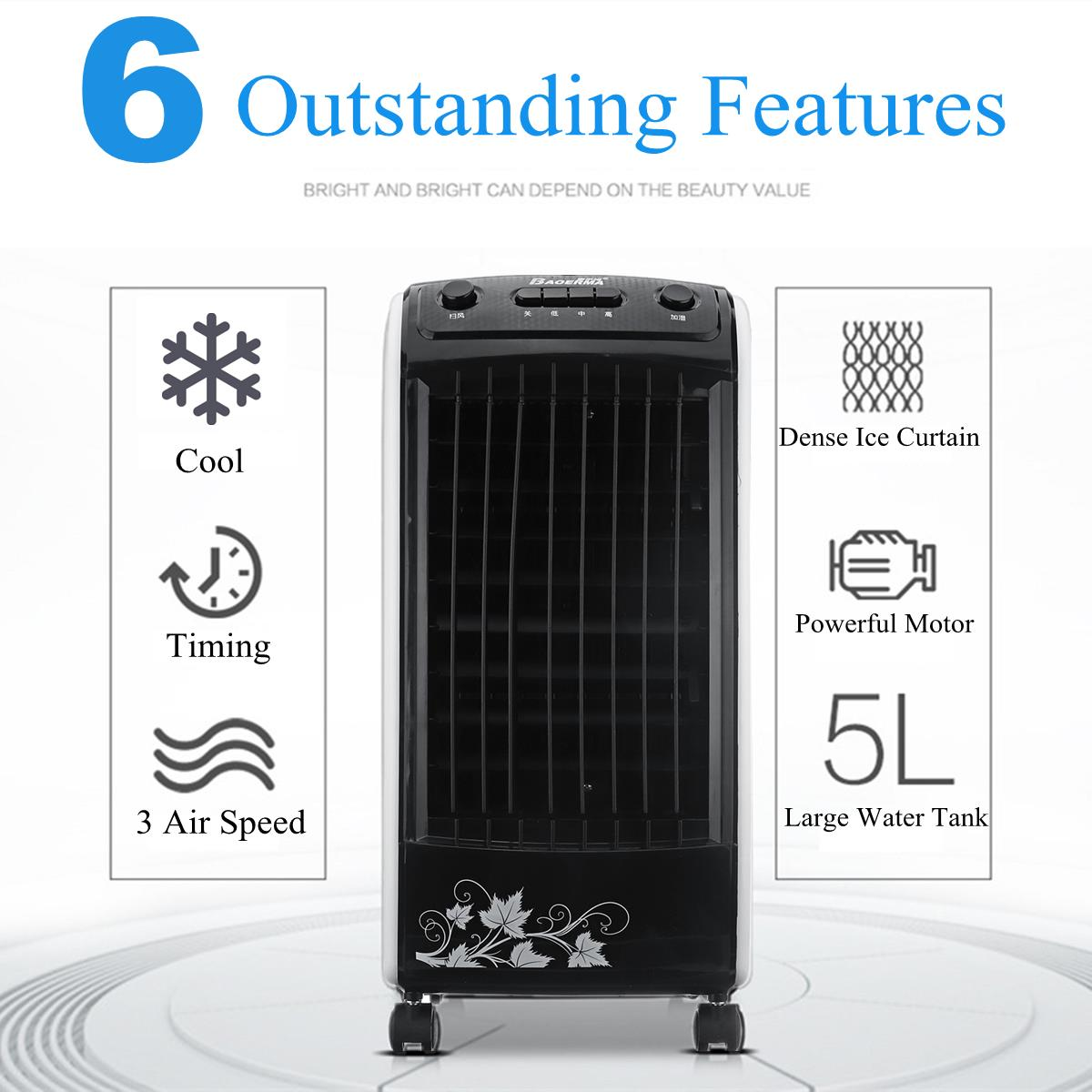 AC 220V 5L Portable Room Black Air Conditioner Indoor Cooler Fan Humidifier Conditioning