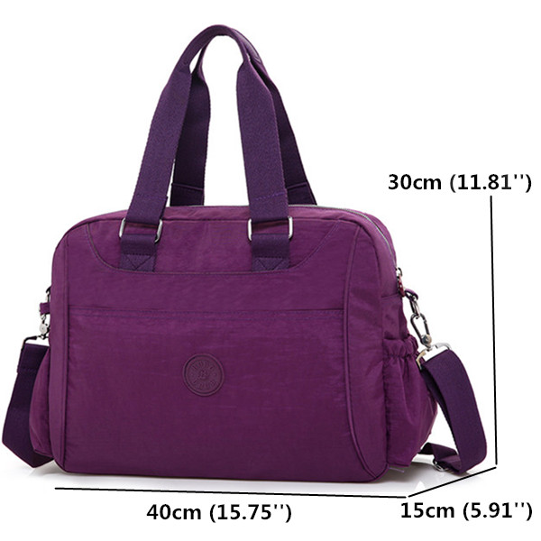 Women Nylon Light Tote Handbags Casual Shoulder Bags Capacity Shopping Crossbody Bags