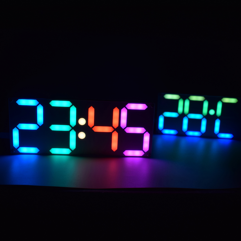 Geekcreit® Large Size Rainbow Color Digital Tube DS3231 Clock DIY Kit