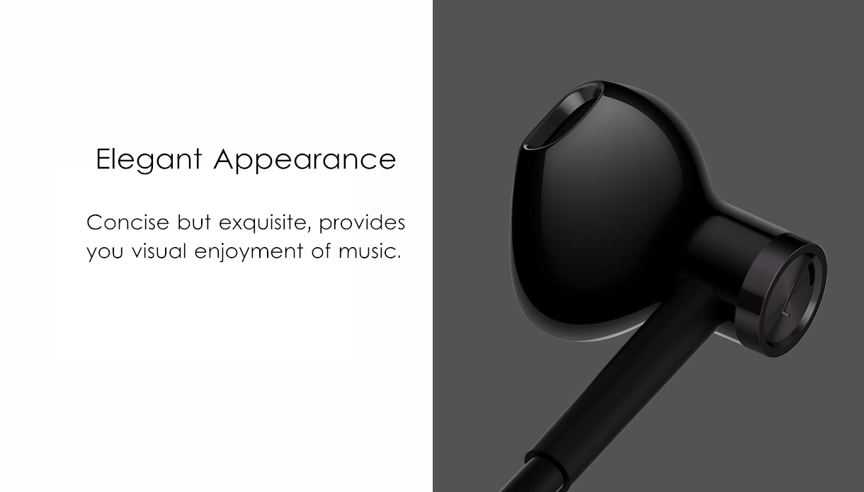 Original Xiaomi Type-C Earphone Dynamic Driver+Ceramics Driver In-ear Wired Headphone with Mic