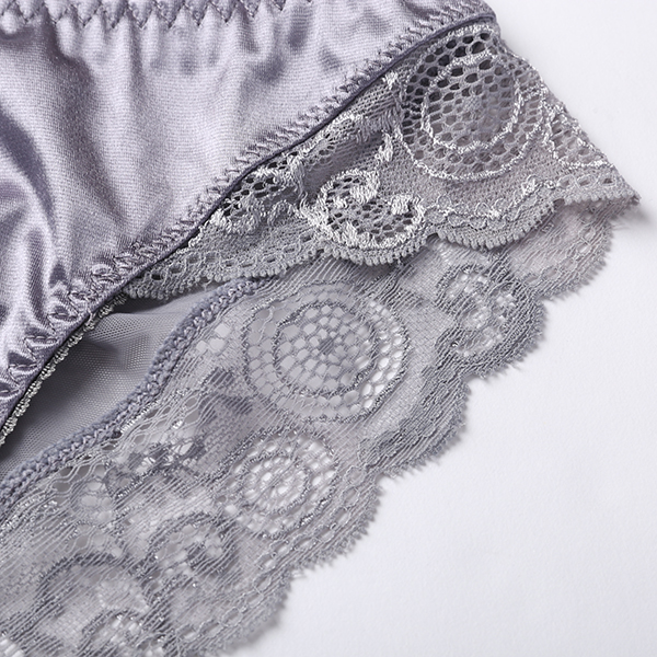 Mid Waist Sexy Lace Trim Soft Cotton Panties
