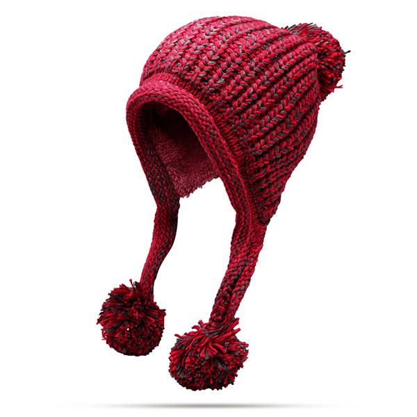 Women Winter Earflap Knit Warm Beanie Hats