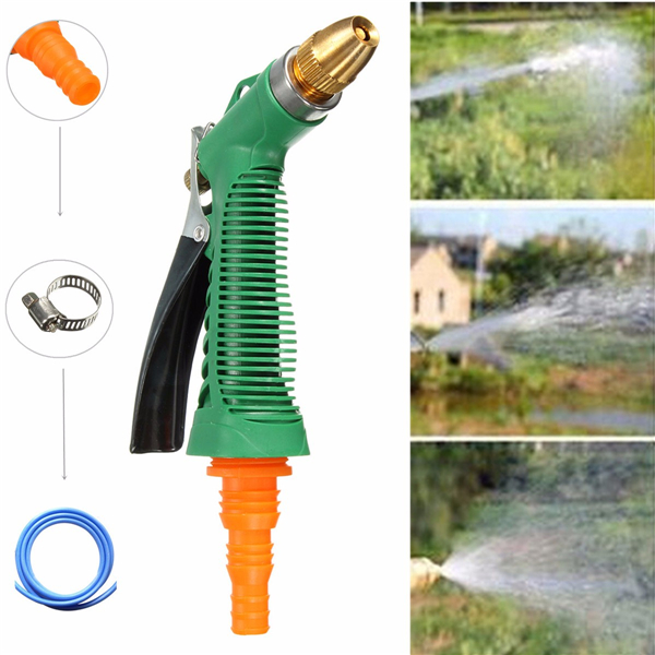Metal Hose Nozzle High Pressure Water Spray Gun Sprayer Garden Auto Car Washing