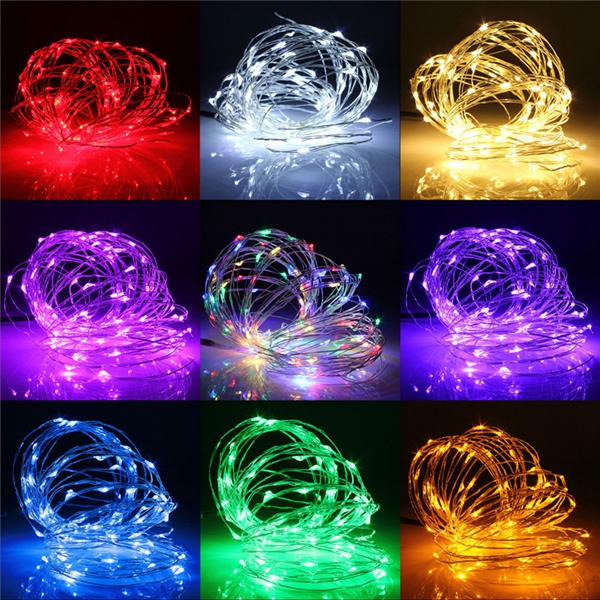 5M 50 LED Copper Wire Christmas Outdoor String Fairy Light Waterproof DC12V