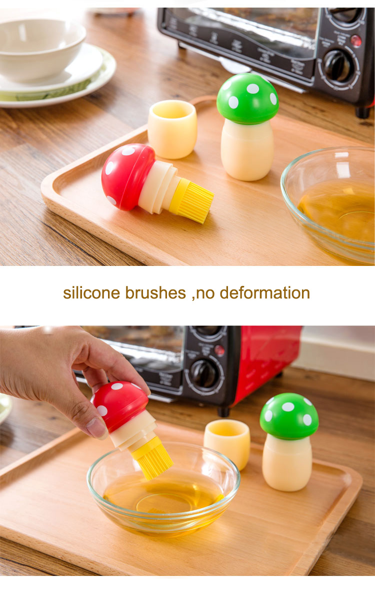 Silicone Pastry Brush Mushroom Shape Oil Brush Baking BBQ Brush Cake Bread Oil Cream Cooking Tools