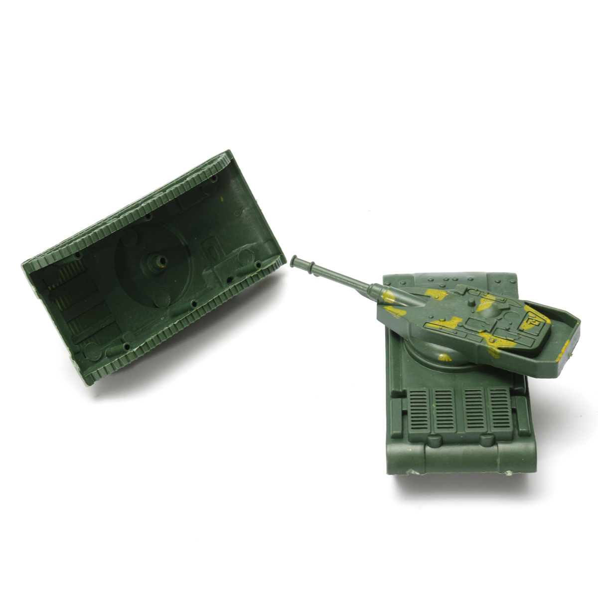 12Pcs Military Tank Model Rotating Turret Plastic Toy Soldier Army Men Accessory For Sandbox