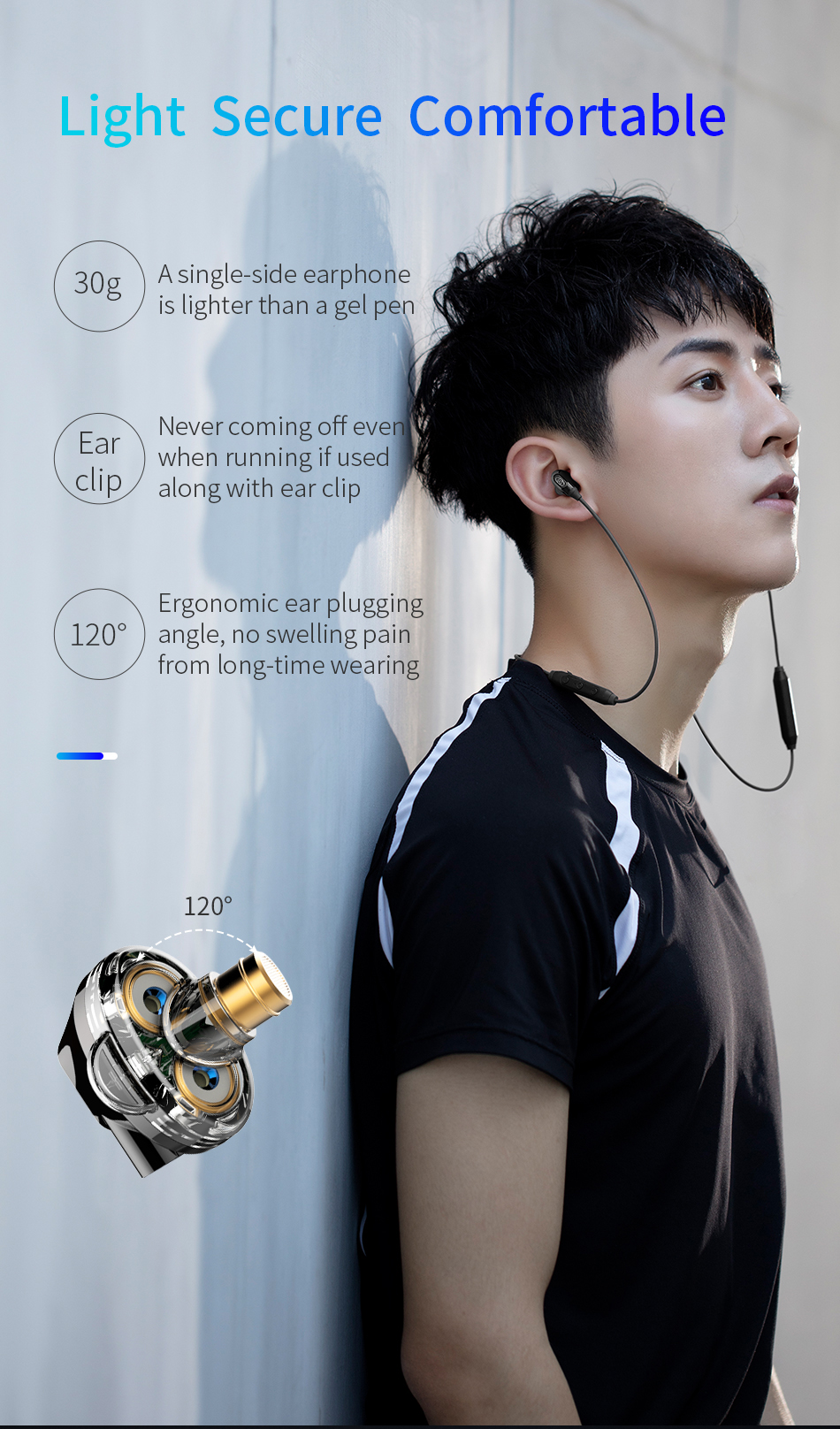Baseus Encok S10 Wireless Bluetooth Earphone Dual Dynamic Stereo Headphone for iPhone XS Max Xiaomi