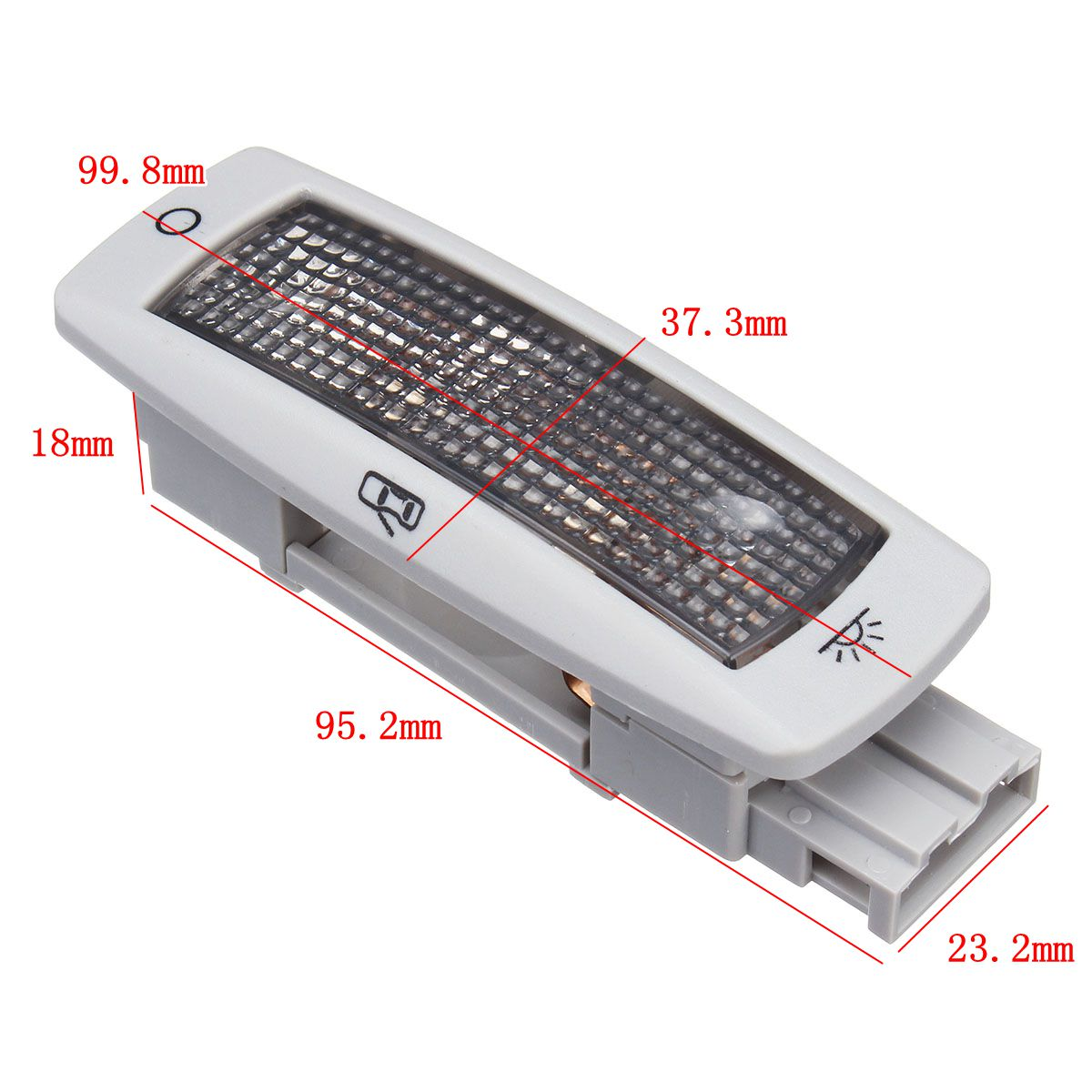 Car Rear Dome Lights Ceiling Reading Map Lamp 3-Pin Gray Cover 3B0947291B for VW/Skoda/Seat
