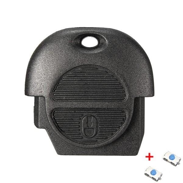 2 Button Remote Key Fob Case For Nissan Micra Almera Primera X Trail + Switch