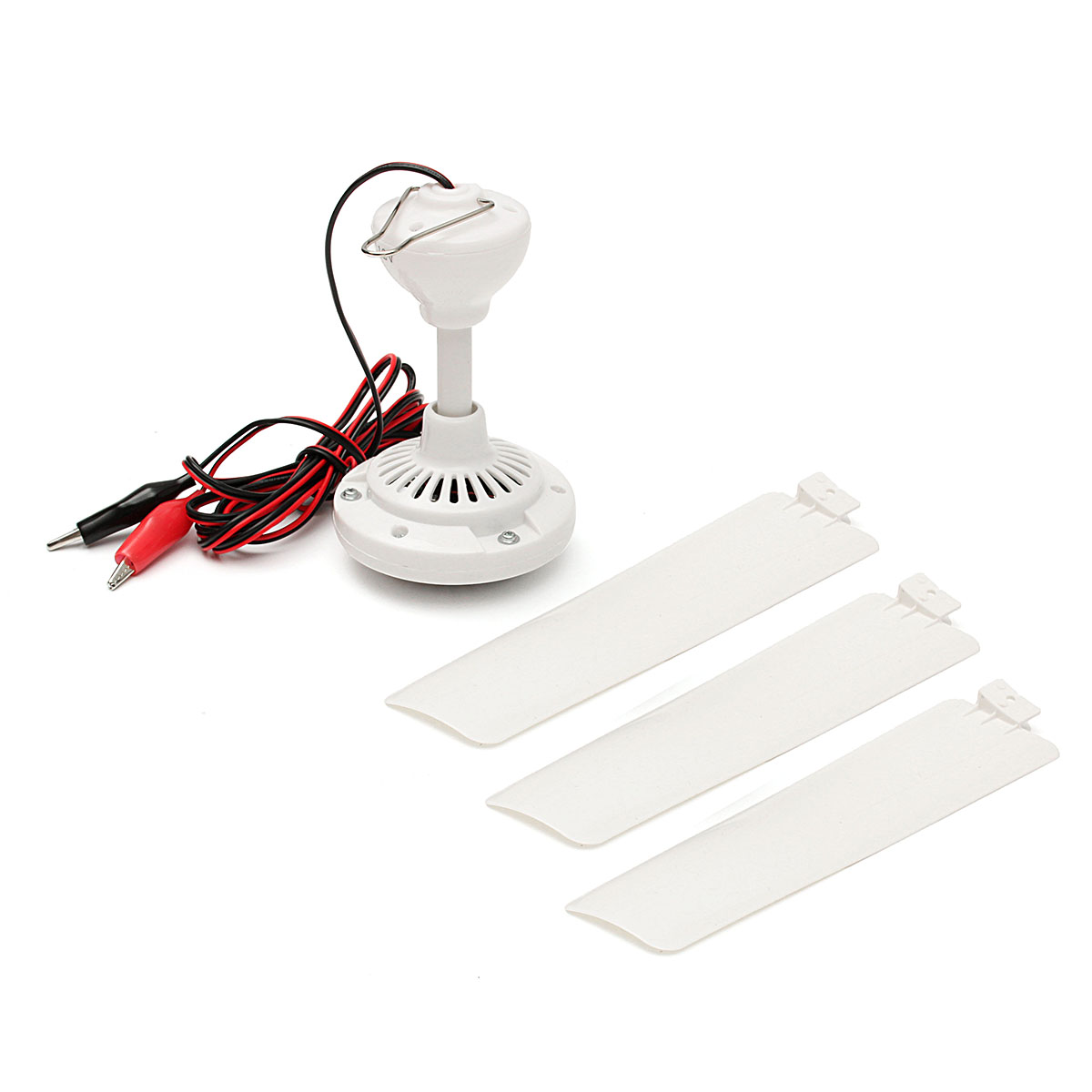 DC12V 6W 3 Leaves Brushless Converter Motor Battery Mini Hanging Ceiling Fan