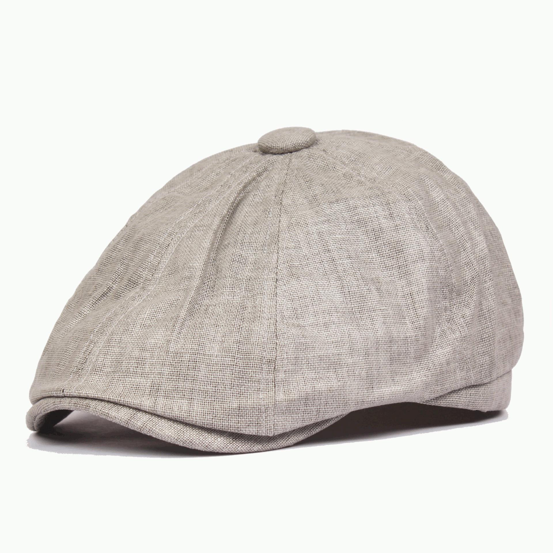 Men Women Newsboy Cotton Blend Beret Hat Casual Visor Sun Hat Flat Cabbie Cap