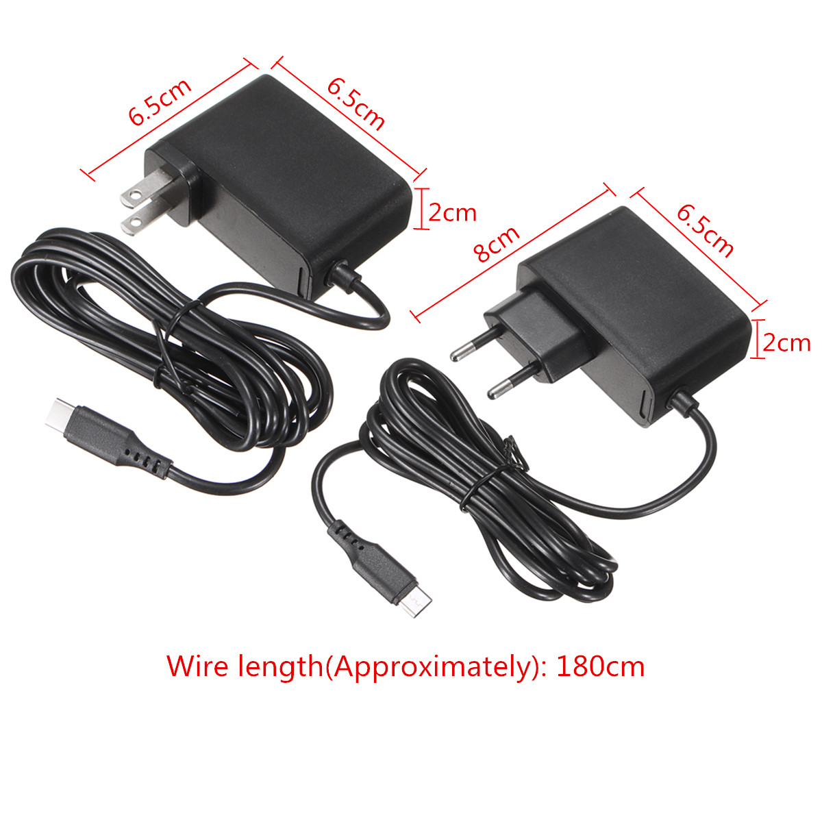 5V 2.4A Type-C Power Supply AC Adapter Travel Charger UK EU AU Plug for Nintendo Switch Cellphone