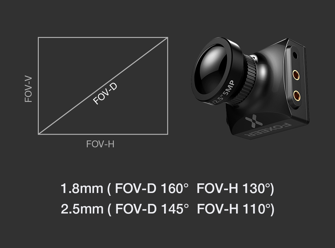 Foxeer Falkor 1200TVL 1/3 CMOS FPV Camera 4:3/16:9 PAL/NTSC Switchable G-WDR OSD For RC Drone