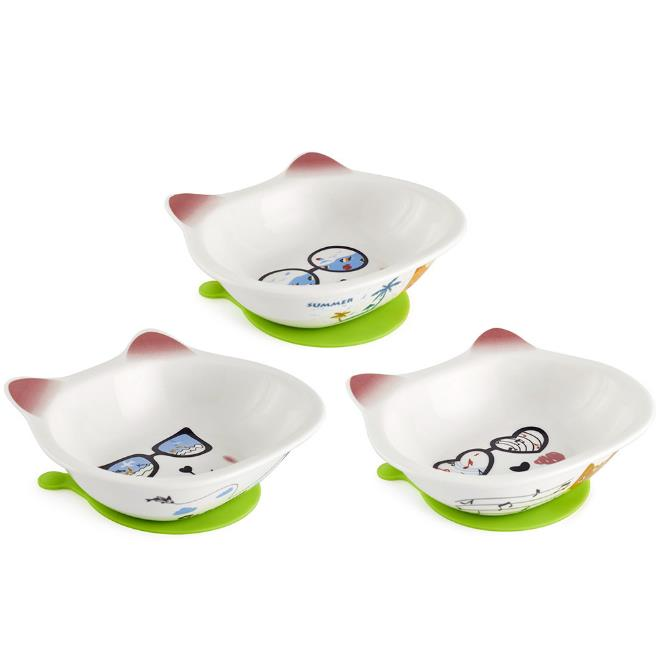 Ceramic Pet Bowl Large and Medium Size for Food and Water Pet Feeders Easy Clean with Free Placemat