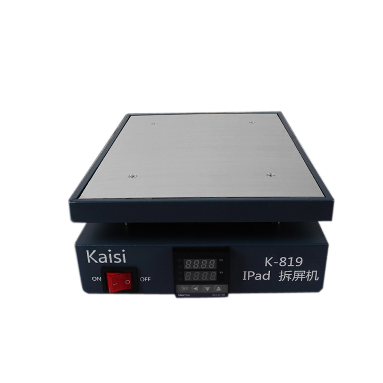 Kaisi K-819 LCD iPad Phone Screen Separator Heating Platform Plate Glass Removal Phone Repair Machine 12inch 260W