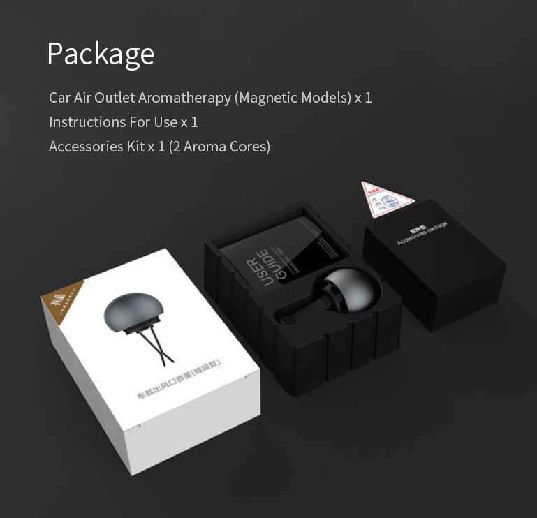 GUILDFORD Car Fragrance Car Incense Diffuser Car Air Purifier Air Freshener Lemon Orange Perfume Metal Clamp Magnetic Attraction Version from xiaomiyoupin