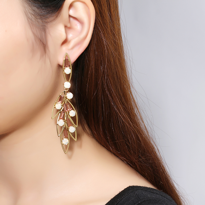 JASSY® 18K Gold Plated Crystal Ear Drop