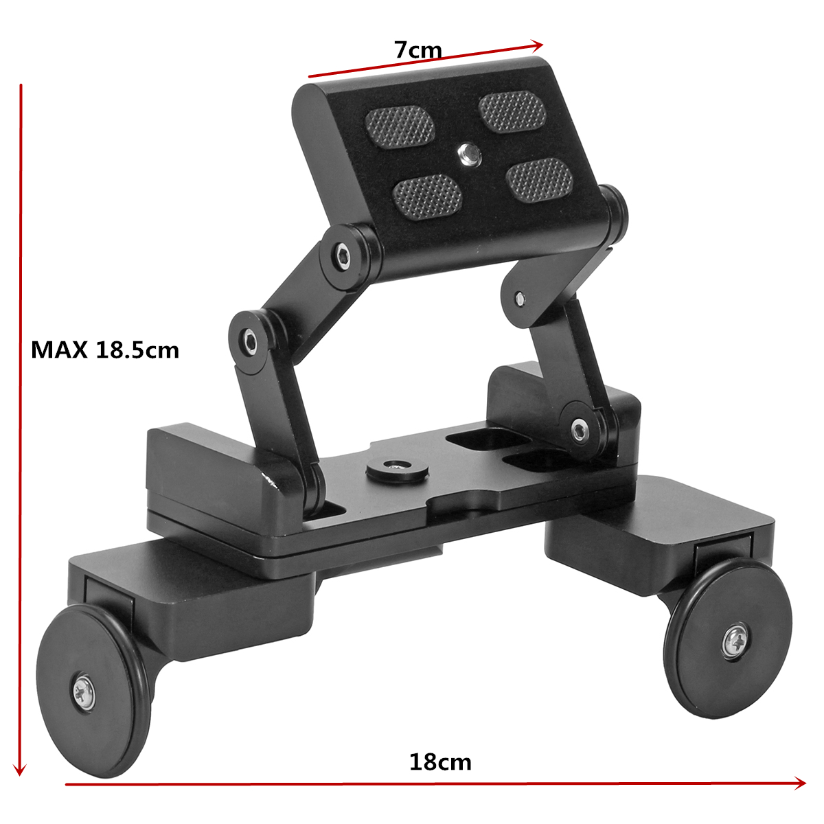 BIKIGHT Foldable Table Dolly Track Video Stabilizer Rolling Slider for Camera Smartphone