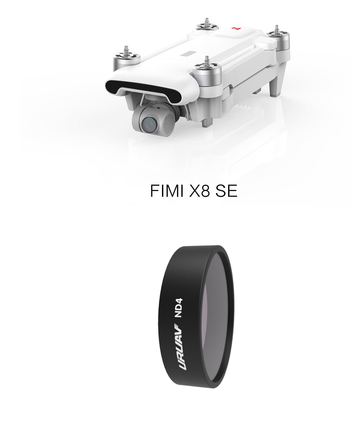 URUAV ND Lens Filter ND4/ND8/ND16/ND32 for Xiaomi FIMI X8 SE HD 4K Camera - Photo: 1